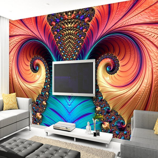 Personalized Customization Art Abstract Color Sculpture Photo Wallpaper Modern Living Room Dining Room Gallery Papel Mural 3 D