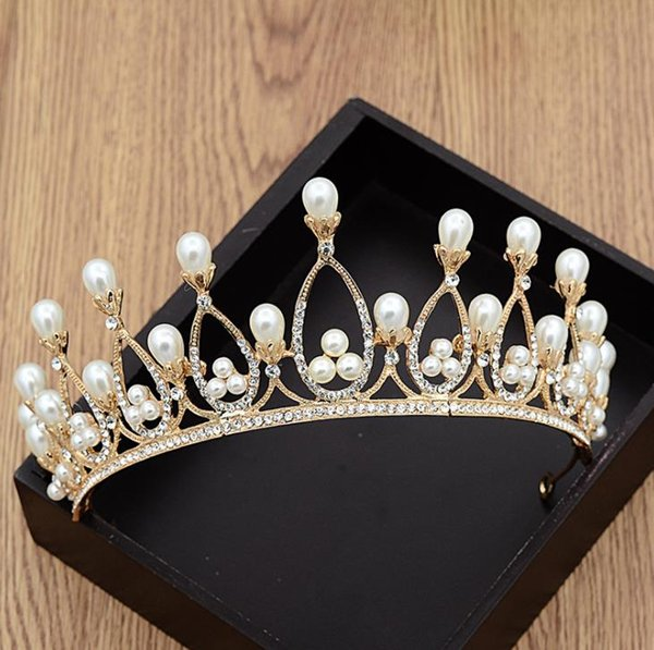 Super fairy women's pearl crown wedding dress, wedding dress, toast and accessories.