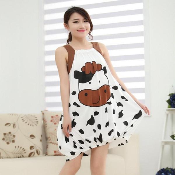 Ladies Sexy Cotton Night Dress Robe Sleeveless Nighties Loose Nightgown Plus Size Nightdress Sleepwear Nightwear For Women