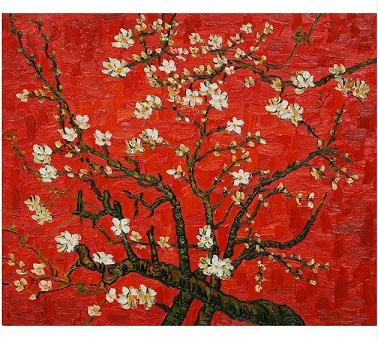 Vincent Van Gogh Branches Of An Almond Tree In Blossom High Quality Handpainted Oil Painting On Canvas Multi sizes /Frame Options Free l134