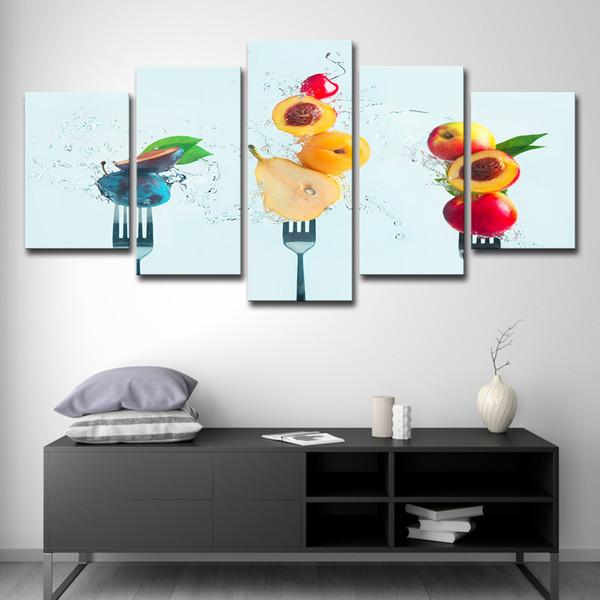 Großhandel Leinwand Bilder Küche Restaurant Decor Wohnzimmer 5 Stücke Obst  Pfirsiche Gemälde HD Drucke Poster Wandkunst Von Print_art_canvas, $16.41  ...