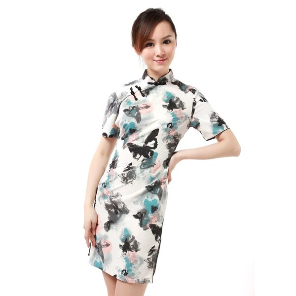 Wholesale Elegant Traditional Oriental Women Slim Cheongsam Clothing Qipao Dress S-XXL,2 Different Retro Styles For Your Choose!