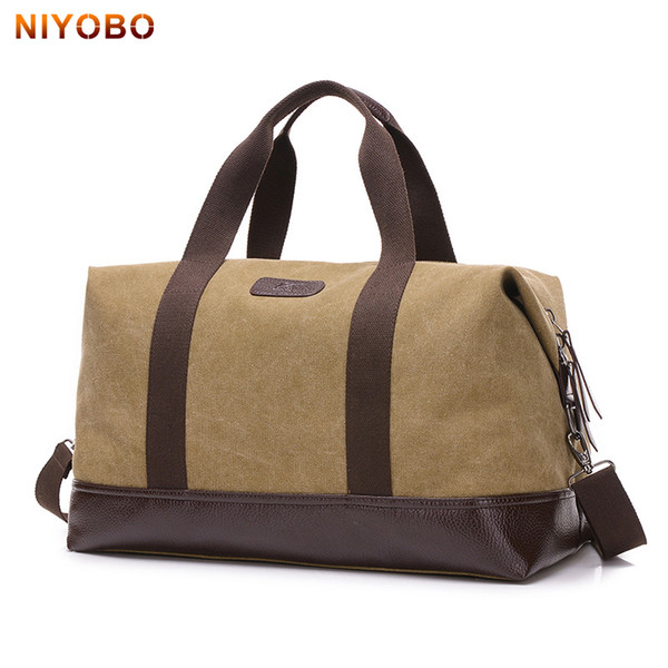 NIYOBO Large Capacity Canvas Travel Bags Casual Men Hand Luggage Travel  Duffle Bag Big Tote 5 d79a47faef21e