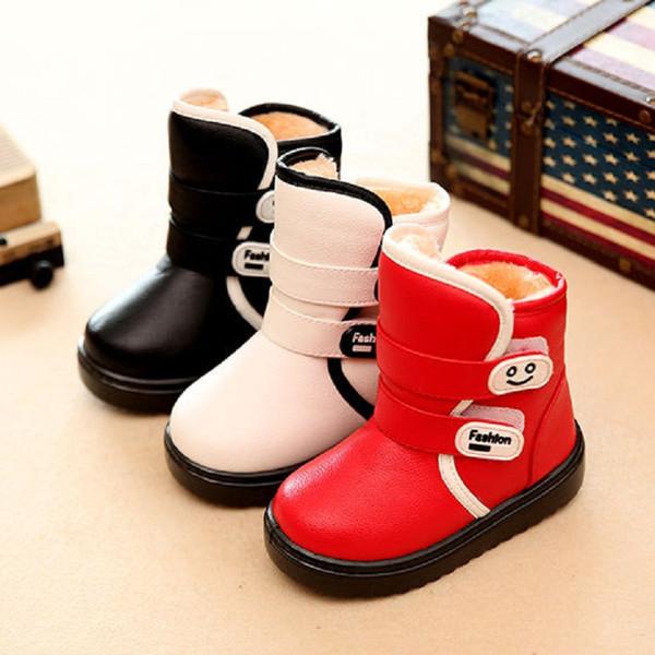 New winter children shoe baby girl snow boots girl winter boots warm shoes slipproof waterproof kids shoe 957