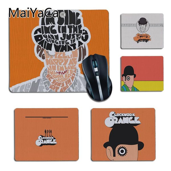 MaiYaCa Top Quality Clockwork Orange Office Mice Rubber Mouse Pad Durable PC Anti-slip Mouse Mats To Gamer gaming pad