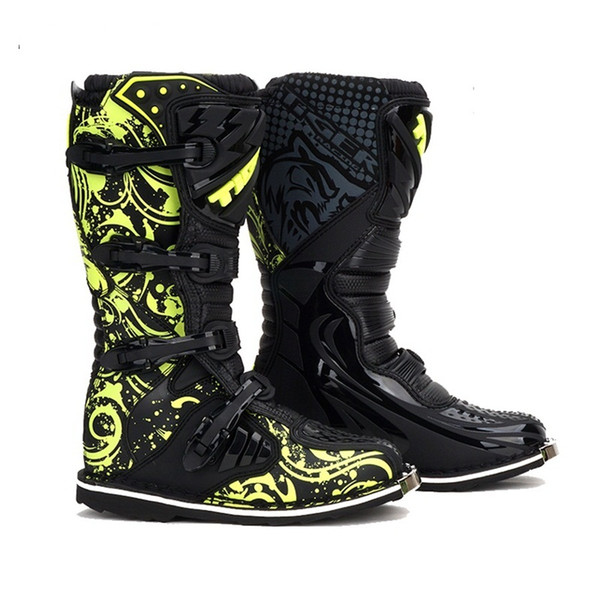 Free shipping 1pair Motorbike Sports Racing Track Road Leather Technical Microfiber Cross-country Motorcycle Boots Shoes
