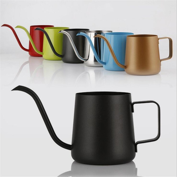350ml 12oz Coffee Pot 304 Stainless Steel Long Narrow Spout Coffee Kettle Pouring Over Gooseneck Coffee Maker Tea Pots