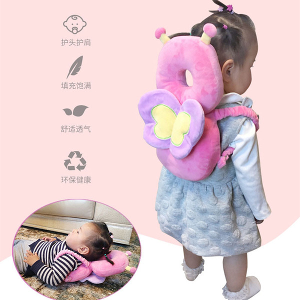 Baby Head Pillow Protection Pad Toddler Headrest Baby Neck Cute Wings Nursing Drop Resistance Cushion Bebe Bedding Backpack Mat