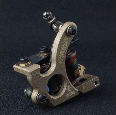 Professional Handmade Tattoo Machine 12-Wrap Coils Iron Cast Frame Tattoo Gun Machine For Hook line Interface