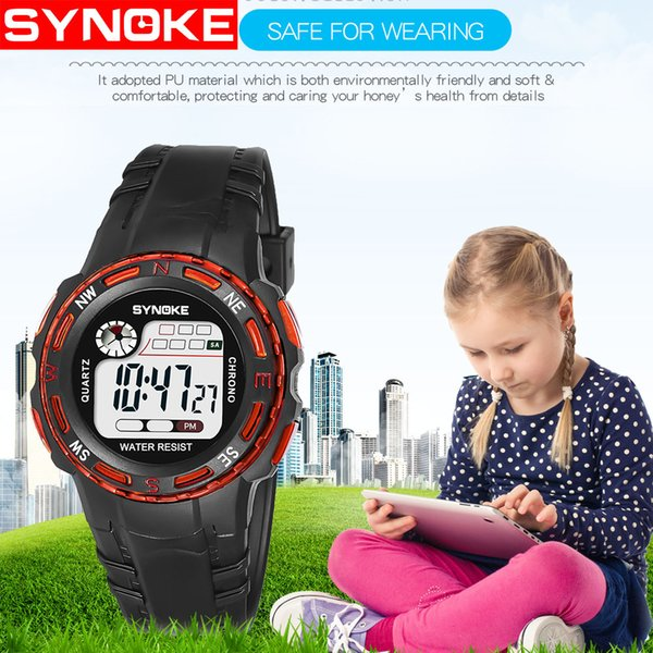 New Children Watches Sport Digital Wristwatches Timer Alarm Chrono 30m Waterproof Kids Watch Boy Girl Gift Watches For Less Nice Watches From