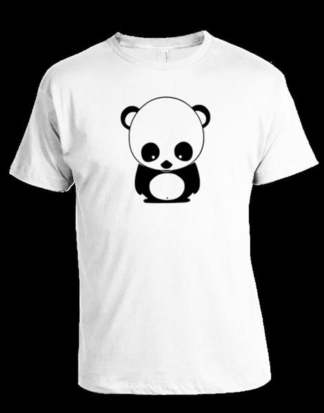 Панда футболка 100% хлопок бесплатная доставка высокое качество Оптовая Марка мода классический топ тройник хлопок мужчины футболки новый с коротким рукавом