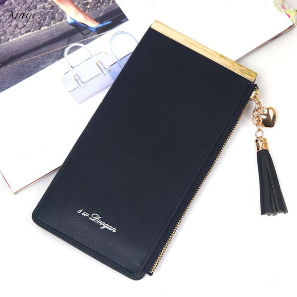 Xiniu Donne Fashion Solid Zipper Wallet 2018 New Fashion Hasp Multi Card posizione portafoglio Pochette Casual Marca carteira