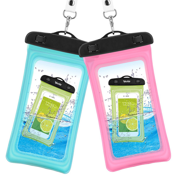 Hot sale 2 Style outdoor PVC plastic dry case sport cellphone protection universal waterproof bag for smart phone