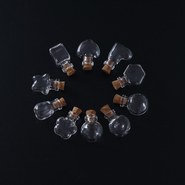 Mini Glass Bottles Pendants Key Chain With Lobster Clasp Arts Jars For Gifts Vial 1pcs 2017 New Arrival Fast Shipping
