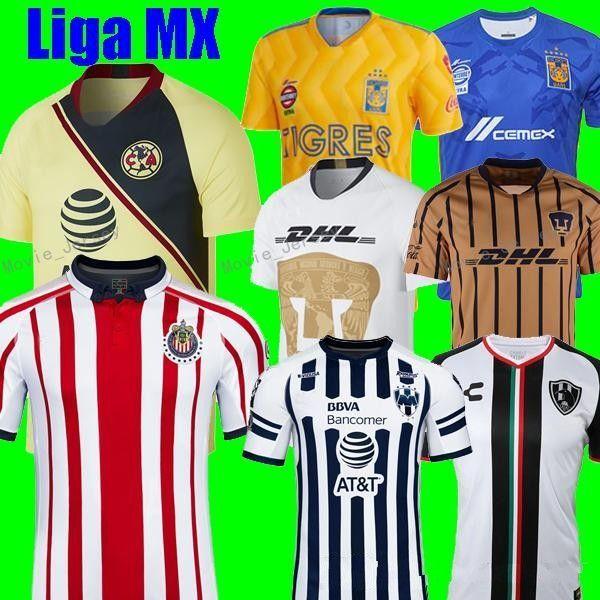 3ca4dd1832e Mexican League Jersey Soccer Club LIGA MX CF Chivas Guadalajara America  UNAM Rayados Monterrey Tigres UANL