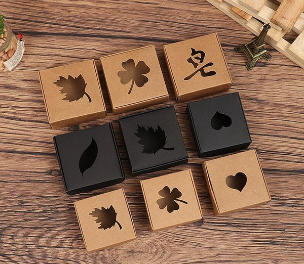 100Pcs Heart Love Rustic Sweet Candy Boxes Kraft Paper Wedding Party Favour Gift Box Party Supply