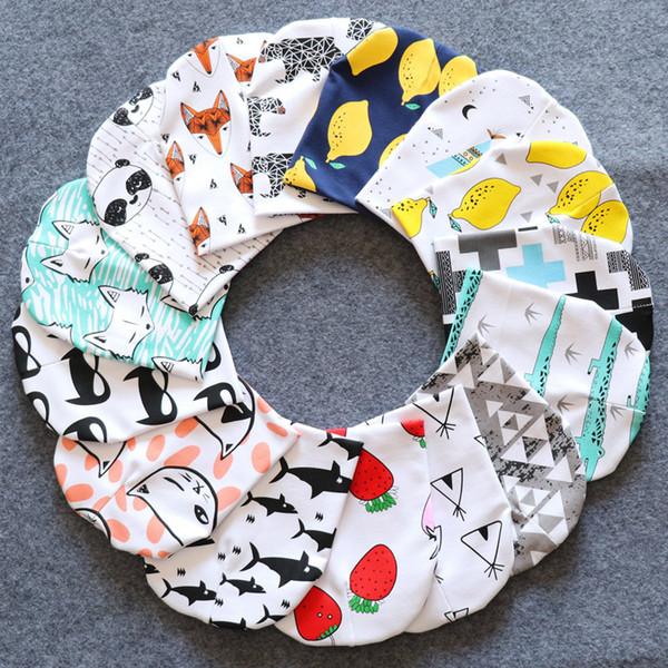 Baby Hat Knit Cotton Cartoon Bear Batman Print Baby Caps For Boys Girls Spring Autumn Winter Children's Hats Child Beanie