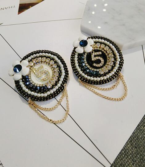 Nouvelle perle fleur double chaîne broche fleur broche épingle écharpe châle boucle femelle