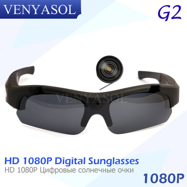 VENYASOL FULL HD 1080P Polarized Mini Camera Sunglasses Digital Video Recorder Glasses Sport Camcorder secret Outdoor black cam