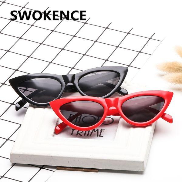 SWOKENCE Fashion Cat Eye Sunglasses Women Name Brand Designer Triangular UV400 Sun Glasses Driver's Goggles SA08