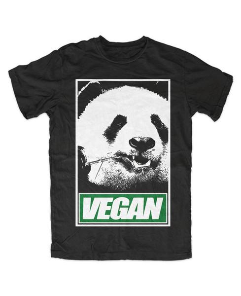 VEGAN Panda T-Shirt Gerade Kante, Fleisch ist Mord, Nein zu Pelz, Gym, Körper, Neu