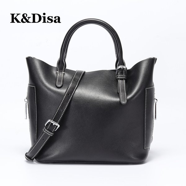 Casual high-capacity Messenger Bags Simple Style Solid Shoulder Bags High-quality two color Occasion Women Handbags Wholesale