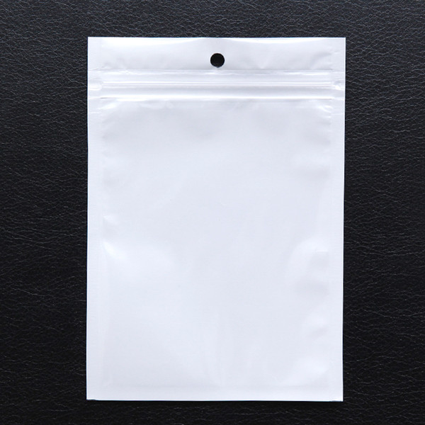 top popular Clear White Plastic Poly OPP CPP Packaging Zipper Zip Lock Retail Packages Jewelry Plastic Bag Many Size Available 2020