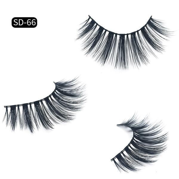3D False Eyelashes Hand made Mink Hair Fake Lashes Thick natural Long False Eyelashes makeup accessories DHL Free YL003
