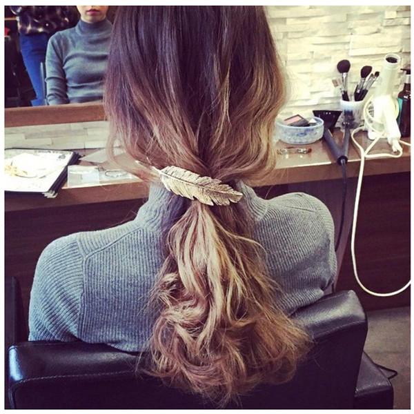 10pcs Women Lady Girl Fashion Metal Leaf Hair Clip Hairpin Barrette Headwear Hair Pins Accessories Wedding Hair Styling Braiding Tools