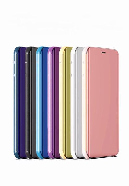 Slim Electroplating Mirror Flip Stand Case For Samsung Galaxy J6 Plus Prime J4 Plus J8 J6 J4 J3 J7 A5 A7 Note 9