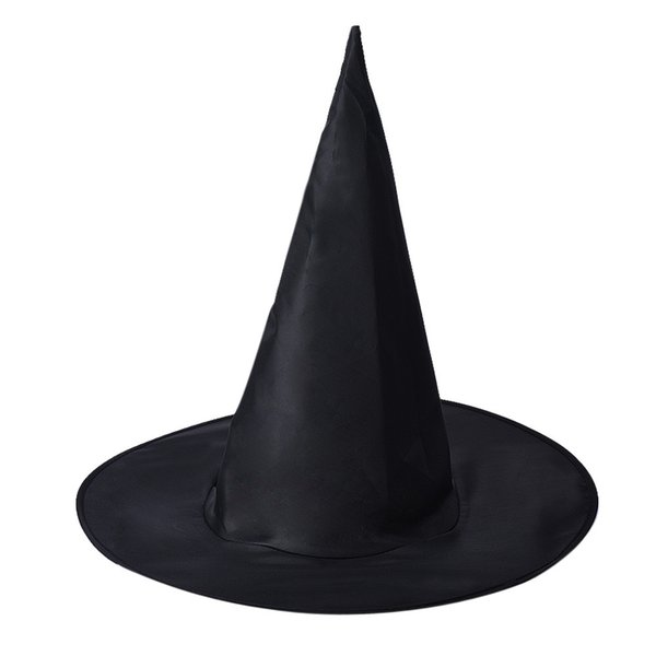 Hot sale Taotown 1Pcs Adult Womens Cool Black Witch Hat For Halloween Costume Accessory Black Halloween Party Hat Props