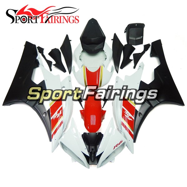 Red White Black Motorcycle Full Fairing Kits For Yamaha YZF600 R6 YZF-R6 Year 2006 2007 Sportbike ABS Motorcycle Body Kits Covers New