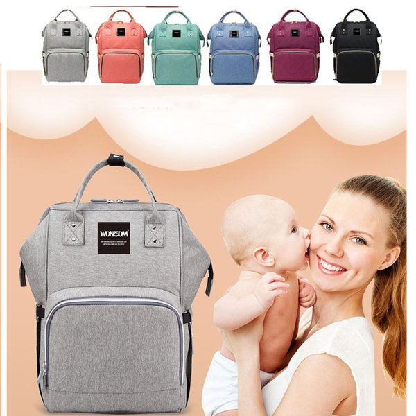 Wonzom Mummy Maternity Nappy Bags Diaper Bag Large Capacity Baby Bag Travel Backpack Nursing Bags Diaper Backpack Free Shipping