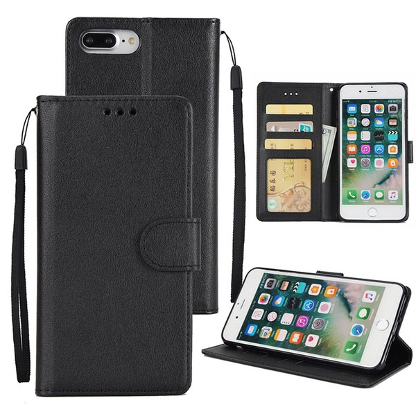 Wallet Leather Case Cover Pouch With Card Slot Holder Stand For iPhone XS Max XR X 8 7 6 Plus Samsung Galaxy S9 S8 Note 9 J2 Pro J3 J4 J6 J7