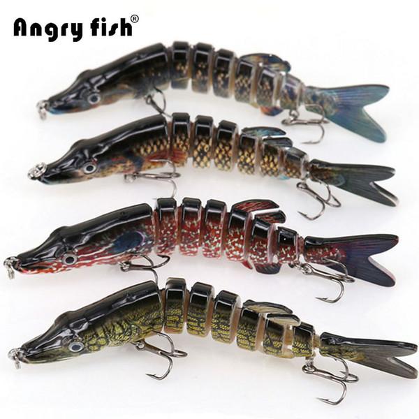 Angryfish 1Pcs Fischköder 13cm 29g 8 Segmente locken Köder mit künstlichen Haken Y1890402