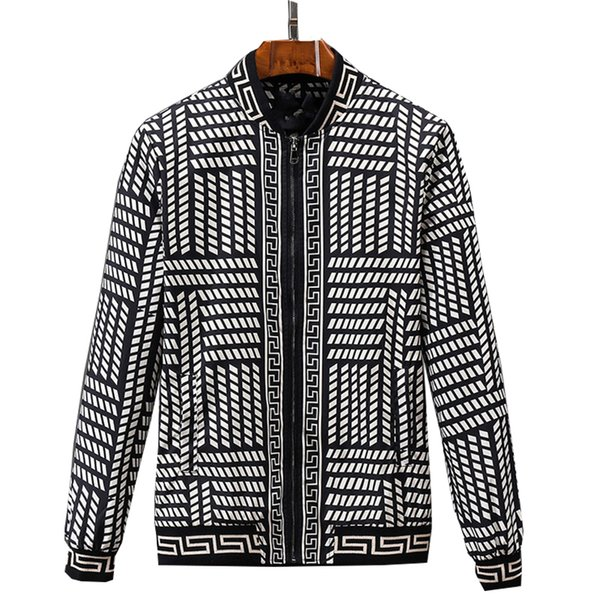 Großhandel 2018 Frühling Herbst Lässige Mode Dünne Bomberjacke Männer Argyle Mantel Baseball Jacken Männer Streetwear Jacke 3xl Top Von Alicewen0818,