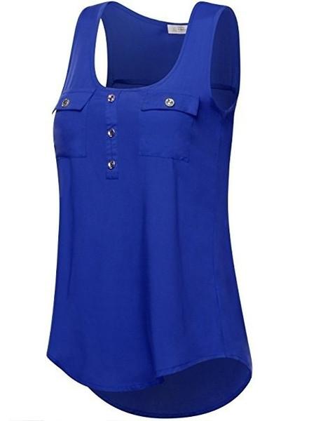 Plus Size 6XL Women Tops New Fashion 2018 Summer Sleeveless Vintage Chiffon T Shirts Solid Color 5XL XXXXL Casual T-Shirt tshirt