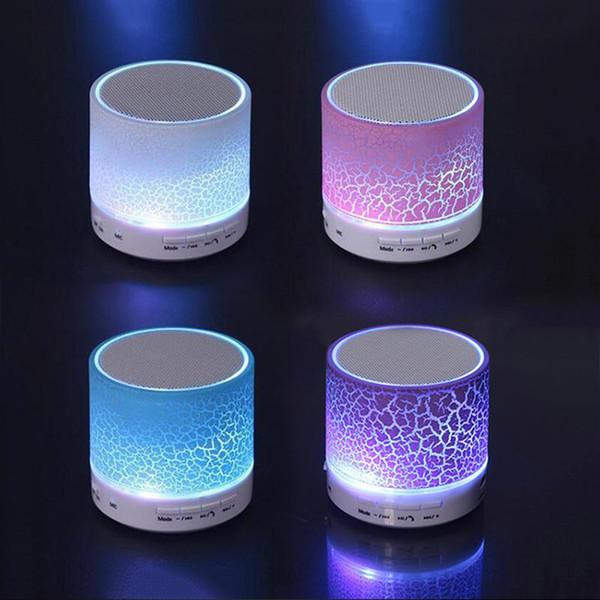 A9 mini bluetooth lautsprecher Drahtlose Bluetooth 4.0 Tragbare Lautsprecher Eingebautes Mikrofon LED-Licht für Home Travel Party
