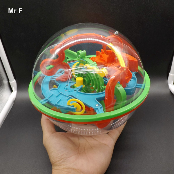 3D Magic Maze Ball 100 Closed Level Intellect Ball Labyrinth Children's Educational Toys Orbit Game Intelligence Christmas Gift