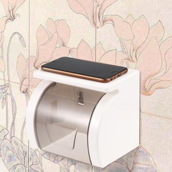 무료 Anti-Slip 및 기어 디자인 펀치 화장실 롤 홀더 강력한 베어링 용량 수 분 증명 변기 롤 홀더 무료 배송 VB