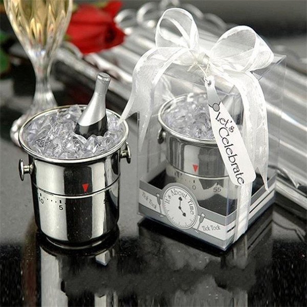 Creative Wedding Small Gift Calculagraph Time Meter Exquisite Cooking Tools Ice Bucket Shape Countdown Timer Alarm Kitchen Essential 7 2zl a