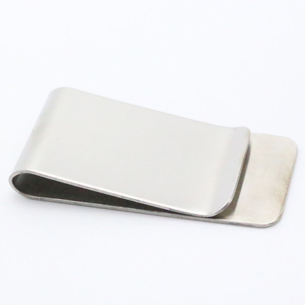 Glossy Mini Stainless Steel Slim Money Clip Purse Wallet ID Card Cash Holder HOT