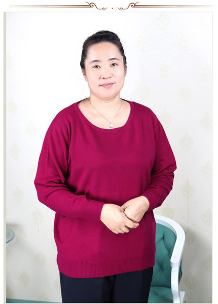 plus la taille femmes vêtements 5XL 6XL7XL 8XL 9XL grande taille moyen âge vêtements mère Cachemire pull