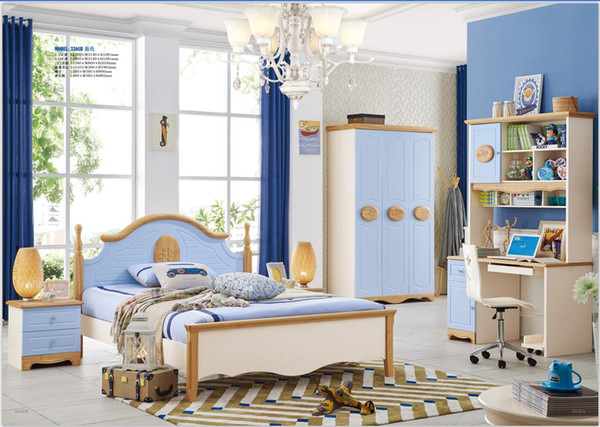 2019 Modern Bedroom Furniture Set Solid Wood Healthy Children Bedroom Furniture Set Bed Wardrobe Desk Bedside Table Chair From Wlnsfurniture 15799