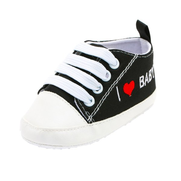 18 New Letter Printed Canvas Shoes Baby Lace-up Toddler Shoes Baby Boy Girl Newborn
