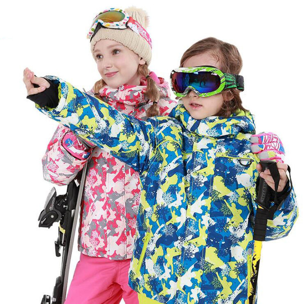 2018 winter ski suit children's suit boys and girls thick waterproof pants waterproof warm breathable freeshipping