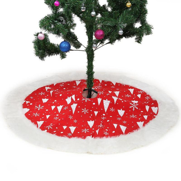 Red Christmas Ornaments.127cm Red Christmas Tree Skirt Carpet Party Ornaments Christmas Decoration For Home Non Woven Xmas Tree Skirt Aprons Price Us Christmas Decorations