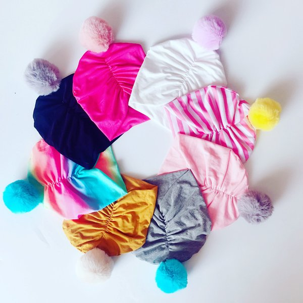 Baby Christmas Caps Indian Cotton Fur Photograph Hats Bebe Autumn Adjustable Caps Kids Accessories