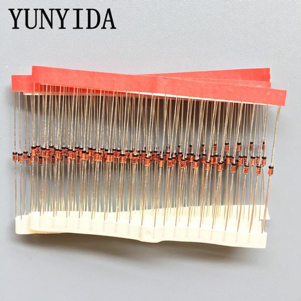 100pcs 1/2W Zener diode DO-35 BZX55C2V2 2V 2V2 2V4 2V7 3V 3V3 3V6 3V9 4V3 4V7 5V1 5V6 6V2 6V8 7V5 8V2 9V1 10V 11V 12V 13V 15V