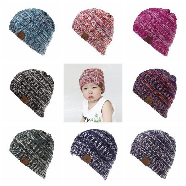 Compre es Niños Niñas Cc Crochet Knit Beanie Hat Winter Skullies ...